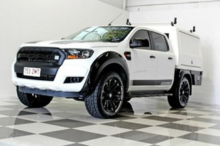 2016 Ford Ranger PX MkII MY17 XL 2.2 (4x4) White 6 Speed Automatic Crew Cab Chassi