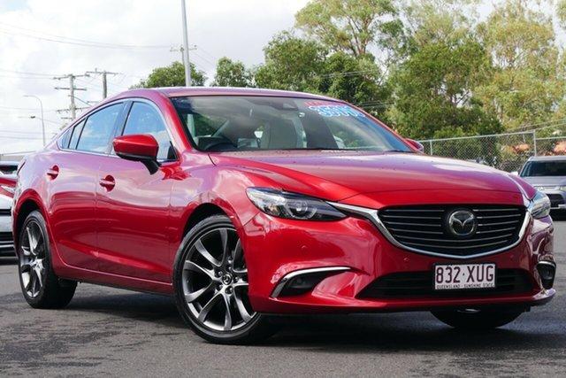 Used Mazda 6 GL1031 Atenza SKYACTIV-Drive Hillcrest, 2017 Mazda 6 GL1031 Atenza SKYACTIV-Drive Red 6 Speed Sports Automatic Sedan
