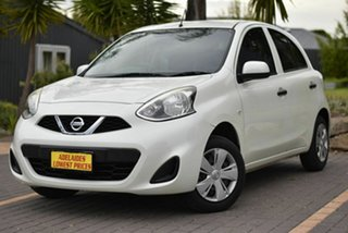 2015 Nissan Micra K13 Series 4 MY15 ST White 5 Speed Manual Hatchback.