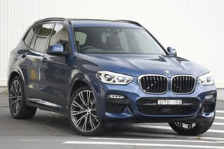 2018 BMW X3 G01 xDrive30i Steptronic Blue 8 Speed Automatic Wagon.