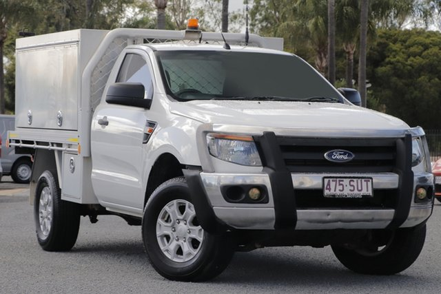 Used Ford Ranger PX XL Beaudesert, 2012 Ford Ranger PX XL White 6 Speed Manual Cab Chassis