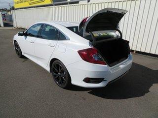 2020 Honda Civic 10th Gen MY20 RS Platinum White 1 Speed Constant Variable Sedan