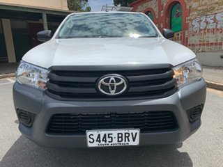 2017 Toyota Hilux GUN122R Workmate 4x2 White 5 Speed Manual Cab Chassis