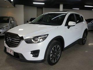 2016 Mazda CX-5 KE1032 Grand Touring SKYACTIV-Drive i-ACTIV AWD White 6 Speed Sports Automatic Wagon.