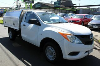 2012 Mazda BT-50 UP0YF1 XT Freestyle 4x2 Hi-Rider White 6 Speed Manual Cab Chassis.