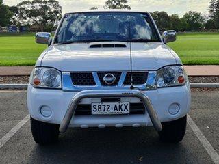 2011 Nissan Navara D22 S5 ST-R Polar White 5 Speed Manual Utility.