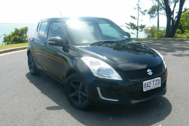 Used Suzuki Swift FZ MY14 GL Gladstone, 2014 Suzuki Swift FZ MY14 GL Black 5 Speed Manual Hatchback