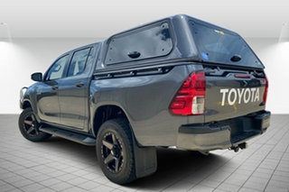 2017 Toyota Hilux GUN126R SR Double Cab Grey 6 Speed Sports Automatic Cab Chassis