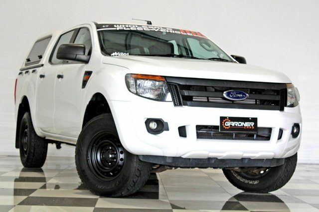 Used Ford Ranger PX XL 2.2 Hi-Rider (4x2) Burleigh Heads, 2015 Ford Ranger PX XL 2.2 Hi-Rider (4x2) White 6 Speed Manual Crew Cab Pickup