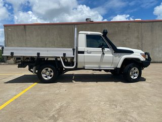 2018 Toyota Landcruiser VDJ79R GXL White 5 Speed Manual Cab Chassis.