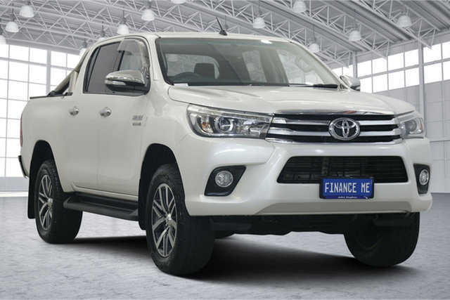Used Toyota Hilux GUN126R SR5 Double Cab Victoria Park, 2017 Toyota Hilux GUN126R SR5 Double Cab Pearl White 6 Speed Sports Automatic Utility