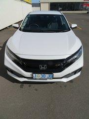 2020 Honda Civic 10th Gen MY20 RS Platinum White 1 Speed Constant Variable Sedan.