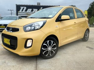 2016 Kia Picanto TA MY17 SI Yellow 4 Speed Automatic Hatchback