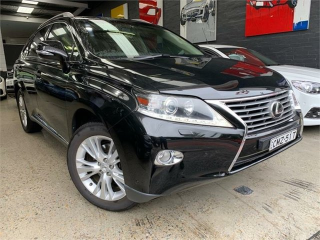 Used Lexus RX GGL15R RX350 Luxury Glebe, 2013 Lexus RX GGL15R RX350 Luxury Black Sports Automatic Wagon