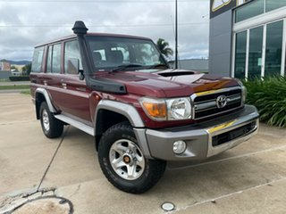 2013 Toyota Landcruiser VDJ76R MY13 GXL Red 5 Speed Manual Wagon.
