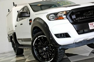 2016 Ford Ranger PX MkII MY17 XL 2.2 (4x4) White 6 Speed Automatic Crew Cab Chassi.