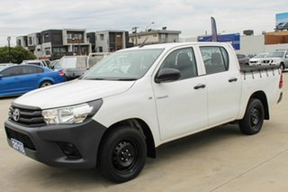 2018 Toyota Hilux GUN122R Workmate Double Cab 4x2 White 5 Speed Manual Utility