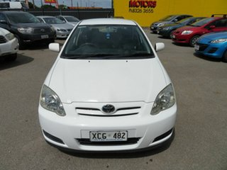 2004 Toyota Corolla ZZE122R Ascent Seca White 4 Speed Automatic Hatchback.