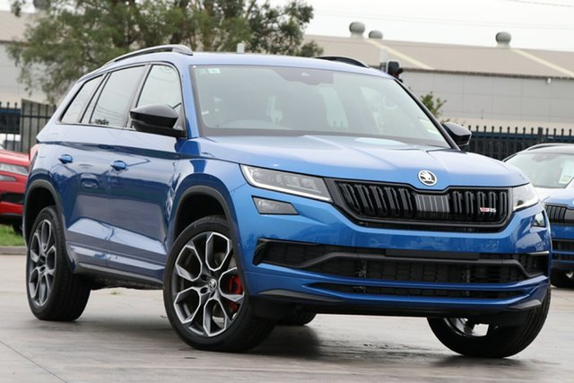 New Skoda Kodiaq NS MY21 RS DSG Hamilton, 2020 Skoda Kodiaq NS MY21 RS DSG 8x8x 7 Speed Sports Automatic Dual Clutch Wagon