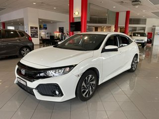 2018 Honda Civic 10th Gen MY18 VTi-S White 1 Speed Constant Variable Hatchback.
