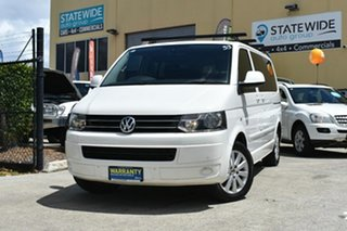 2010 Volkswagen Multivan T5 MY10 132 TDI Comfortline White 7 Speed Auto Direct Shift Wagon