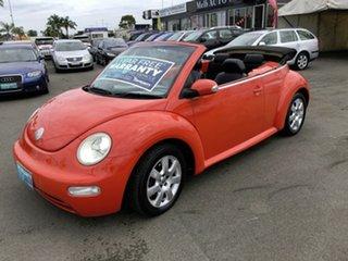 2003 Volkswagen Beetle 9C Cabriolet Orange & Black 6 Speed Tiptronic Cabriolet.