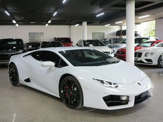 2017 Lamborghini Huracan 724 MY17 LP580-2 D-CT White 7 Speed Sports Automatic Dual Clutch Coupe.