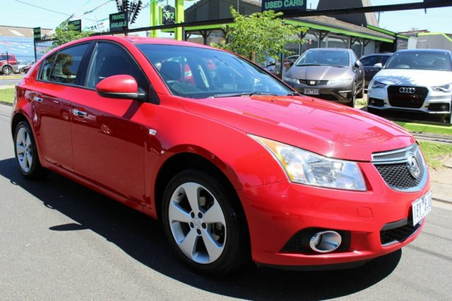 Used Holden Cruze JH Series II MY14 Equipe West Footscray, 2014 Holden Cruze JH Series II MY14 Equipe Red 6 Speed Sports Automatic Hatchback