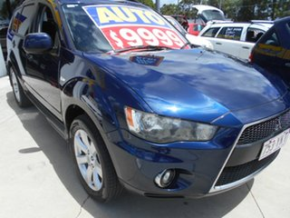 2010 Mitsubishi Outlander ZH MY10 Activ Blue 6 Speed Constant Variable Wagon.