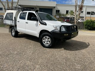 2011 Toyota Hilux KUN26R MY12 Workmate (4x4) White 4 Speed Automatic Dual Cab Pick-up.