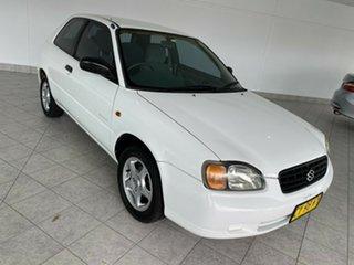 2000 Suzuki Baleno GL White 4 Speed Automatic Hatchback.
