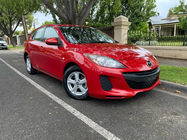 Pre-Owned Mazda 3 BL10F2 MY13 Neo Activematic Hawthorn, 2013 Mazda 3 BL10F2 MY13 Neo Activematic Red 5 Speed Sports Automatic Hatchback