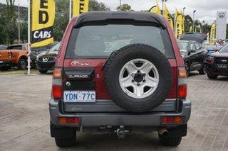 1998 Toyota Landcruiser Prado VZJ95R VX Grande Maroon 4 Speed Automatic Wagon