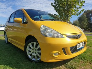 2007 Honda Jazz GD VTi-S Yellow 5 Speed Manual Hatchback.
