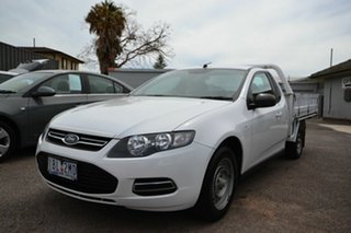 2014 Ford Falcon FG MK2 (LPi) White 6 Speed Automatic Cab Chassis.