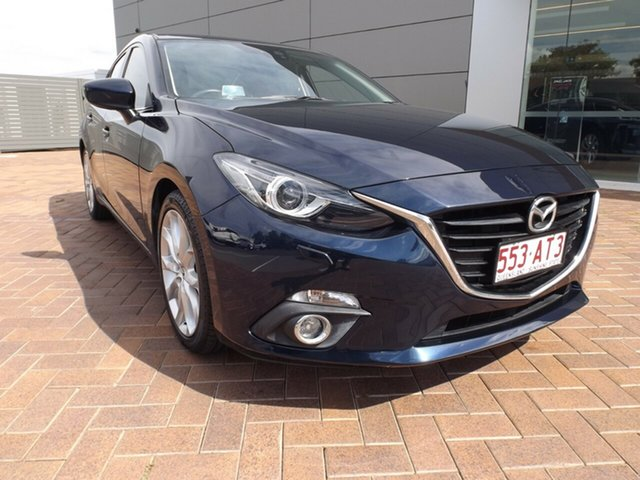 Used Mazda 3 BM5238 SP25 SKYACTIV-Drive GT Toowoomba, 2015 Mazda 3 BM5238 SP25 SKYACTIV-Drive GT Deep Crystal Blue 6 Speed Sports Automatic Sedan