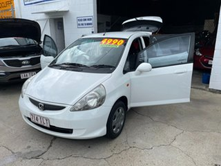 2005 Honda Jazz GD MY05 GLi White 1 Speed Constant Variable Hatchback.