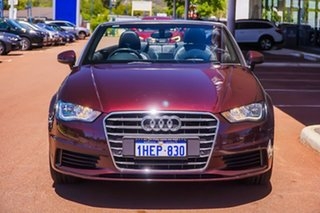 2014 Audi A3 8V MY15 Attraction S Tronic Maroon 7 Speed Sports Automatic Dual Clutch Cabriolet