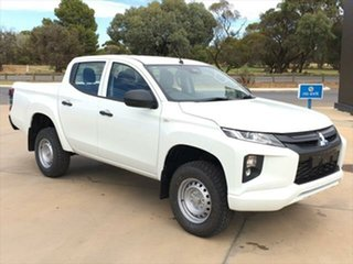 2020 Mitsubishi Triton MR MY21 GLX Double Cab ADAS White 6 Speed Sports Automatic Utility.