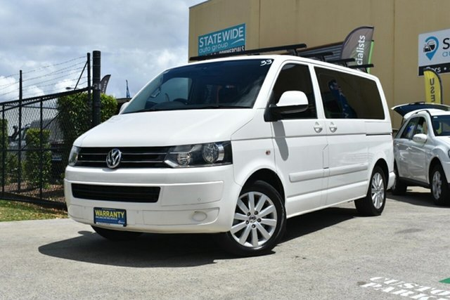 Used Volkswagen Multivan T5 MY10 132 TDI Comfortline Capalaba, 2010 Volkswagen Multivan T5 MY10 132 TDI Comfortline White 7 Speed Auto Direct Shift Wagon