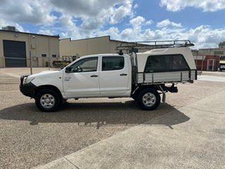 2011 Toyota Hilux KUN26R MY12 Workmate (4x4) White 4 Speed Automatic Dual Cab Pick-up