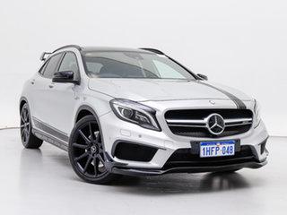 2015 Mercedes-Benz GLA45 AMG 4Matic X156 MY15 Silver 7 Speed Auto Dual Clutch Wagon.