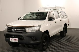 2017 Toyota Hilux GUN125R Workmate Double Cab Glacier 6 speed Automatic Utility.