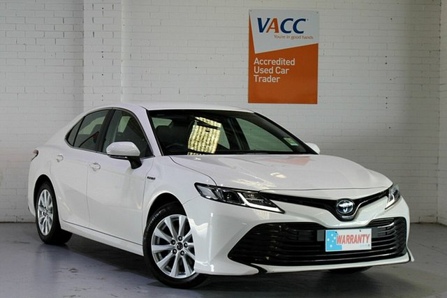 Used Toyota Camry AXVH71R Ascent Moorabbin, 2019 Toyota Camry AXVH71R Ascent White 6 Speed Constant Variable Sedan Hybrid
