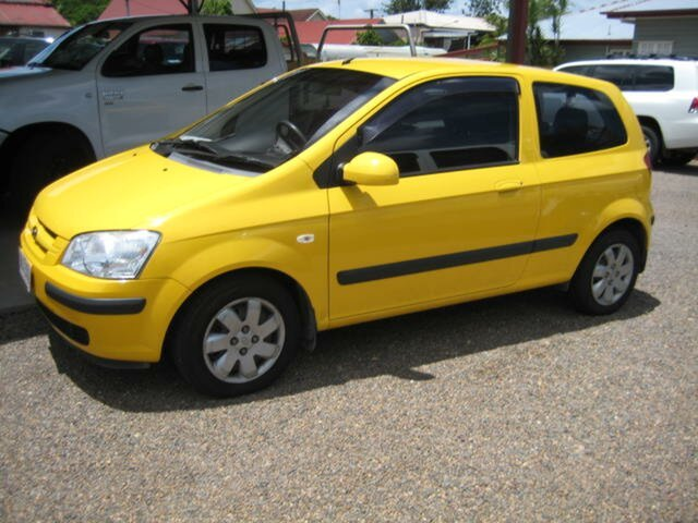 Used Hyundai Getz North Ipswich, 2005 Hyundai Getz Yellow Manual Hatchback