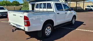 2013 Toyota Hilux KUN26R MY12 SR Double Cab White 5 Speed Manual Utility