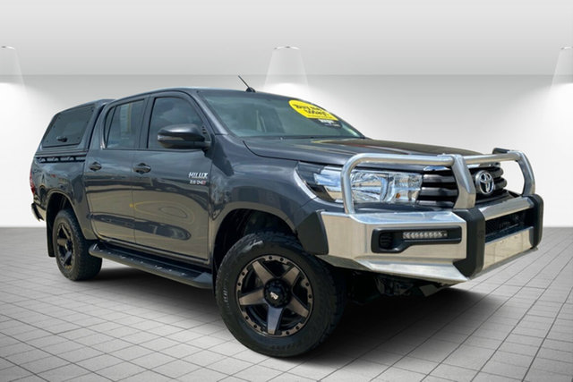 Used Toyota Hilux GUN126R SR Double Cab Hervey Bay, 2017 Toyota Hilux GUN126R SR Double Cab Grey 6 Speed Sports Automatic Cab Chassis
