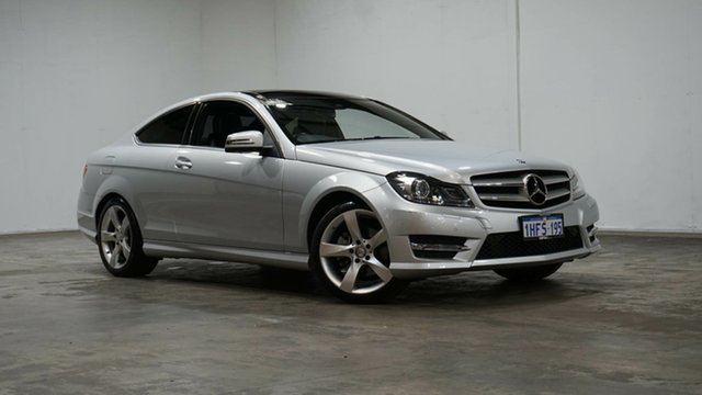 Used Mercedes-Benz C-Class C204 MY14 C250 7G-Tronic + Welshpool, 2014 Mercedes-Benz C-Class C204 MY14 C250 7G-Tronic + Silver 7 Speed Sports Automatic Coupe