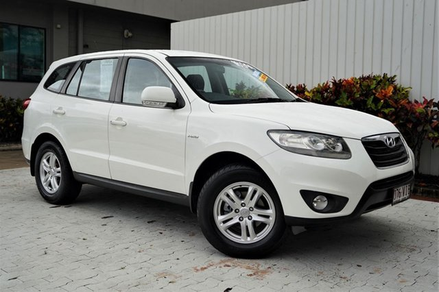 Used Hyundai Santa Fe CM MY10 SLX Cairns, 2010 Hyundai Santa Fe CM MY10 SLX White 6 Speed Sports Automatic Wagon