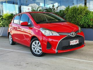 2015 Toyota Yaris NCP130R MY15 Ascent Red 4 Speed Automatic Hatchback.